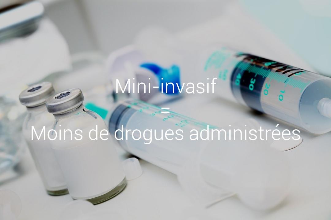 iWay - Mini-invasif = Moins de drogues administrées